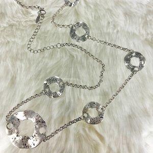 "30"" Long Silver Vintage Necklace"